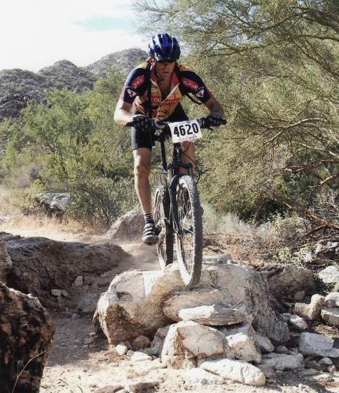 Cliff Smith in a mountain bike race