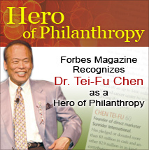 Forbes Magazine Cover with Dr. Chen