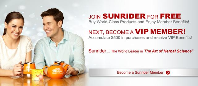 Sunrider Free Membership Banner