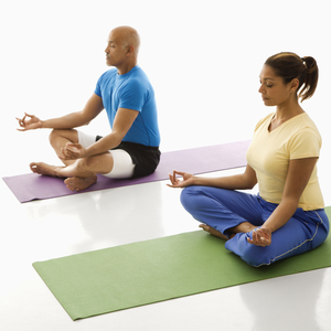 Healthy People Meditating